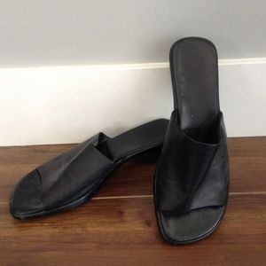 Black Leather Sandel Shoe